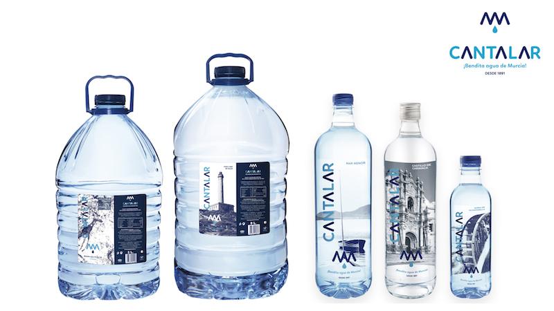 formatos de botellas de agua de cantalar